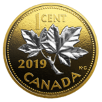 1 Cent Big Coin Series Maple Leaf Kanada 5 oz Silber PP 2019 **
