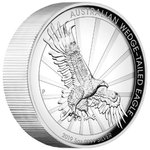 8 $ Dollar Wedge-Tailed Eagle Keilschwanzadler High Relief Australien 5 oz Silber PP 2019 **