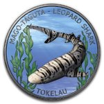 5 $ Dollar Leopard Shark Leopardenhai Tokelau 1 oz Silber + Ruthenium 2018