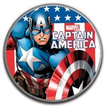 1 $ Dollar Marvel Series - Captain America Sonderedition Tuvalu 1 oz Silber BU 2019