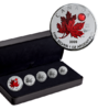 15 $ Dollar Silver Maple Leaf 5-Coin Fractional Set - O Canada Kanada Silber 2020 **