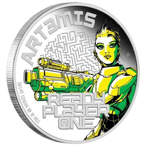 1 $ Dollar Ready Player One - Art3mis Tuvalu 1 oz Silber PP 2018