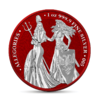 5 Mark The Allegories Britannia & Germania Space Red 1 oz Silber BU 2019