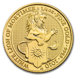 25 Pfund Pounds The White Lion of Mortimer Grossbritannien 1/4 oz Gold 2020