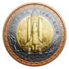 25 Cents 35th Anniversary First Canadian in Space Trimetall Kanada Blister 2019 **