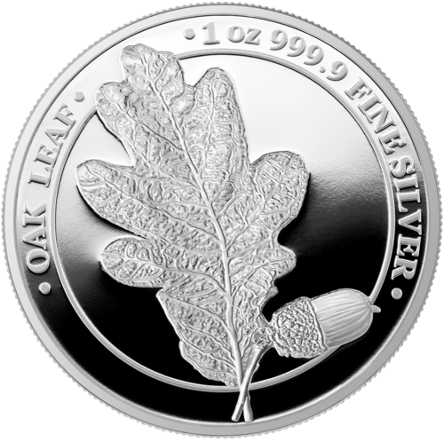 5 Mark Germania - Oak Leaf - Eichenblatt Proof 1 oz Silber PP 2019