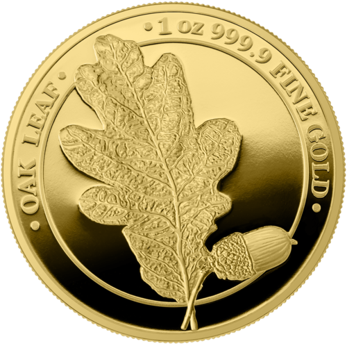 100 Mark Germania - Oak Leaf - Eichenblatt Proof 1 oz Gold PP 2019