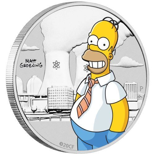 50 Cents The Simpsons - Homer Simpson Tuvalu 1/2 oz Silber in Coincard 2019 **