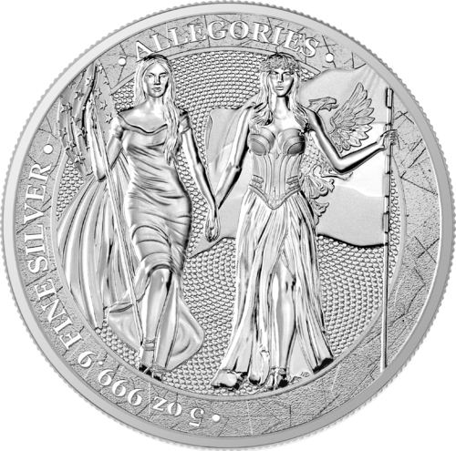 25 Mark The Allegories Columbia & Germania 5 oz Silber BU 2019 **