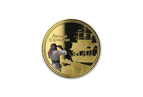 10 $ Dollar EC8 - Eastern Caribbean 8 - Rum Runner Antigua & Barbuda 1 oz Gold Prooflike 2019