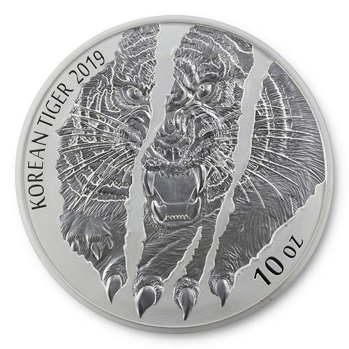 10 oz Silber Korean Silver Tiger - KOMSCO South Korea Südkorea 2019