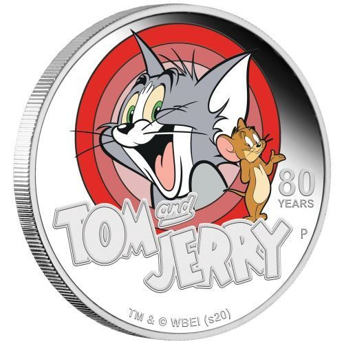 1 Dollar 80th Anniversary - 80 Jahre Tom and Jerry Tuvalu 1 oz Silber PP 2020 **