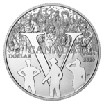 1 $ Proof Silver Dollar 75th Anniversary of V-E Day Kanada Silber PP 2020 **