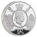 5 Pfund Pounds Celebration of the Reign of George III Piedfort Grossbritannien UK Silber PP 2020