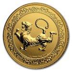 250 $ Dollar Feng Shui - Celestial Animals - The White Tiger Niue Island 1 oz Gold 2019
