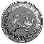 2 $ Dollar Feng Shui - Celestial Animals - The White Tiger Niue Island 1 oz Silber 2019 **