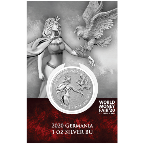 5 Mark Germania WMF Berlin World Money Fair Edition 1 oz Silber BU 2020 **