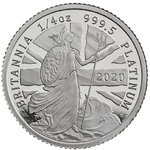 10 Pfund Pound Britannia Quarter-Ounce Platinum Proof Grossbritannien UK 1/4 oz Platin PP 2020