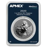 1 $ Dollar Pegasus Apmex MintDirect® Premier British Virgin Islands 1 oz Silber 2020 **