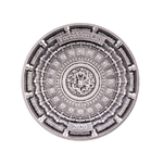 10 Dollar 4-Layer Forbidden City  - Verbotene Stadt Peking China Solomon Islands 100 Gr. Silber 2020