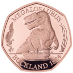 50 Pence Dinosauria - Dinosaurier Collection - Megalosaurus Grossbritannien UK Gold PP 2020
