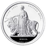 5 Pfund Pounds Una and the Lion Grossbritannien UK 2 oz Silber PP 2019