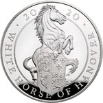 2 Pfund Pounds The Queen's Beasts The White Horse of Hanover Grossbritannien 1 oz Silber PP 2020