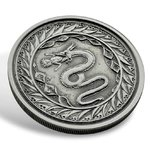 2 Tala Silver Serpent of Milan -  Schlange von Mailand Samoa 1 oz Silber Antique Finish 2020 **