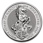 5 Pfund Pounds The Queen's Beasts The White Horse of Hanover Grossbritannien UK 2 oz Silber 2020 **
