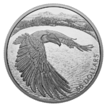 50 $ Dollar Courageous Bald Eagle - Weisskopfseeadler Kanada 5 oz Silber 2020 **