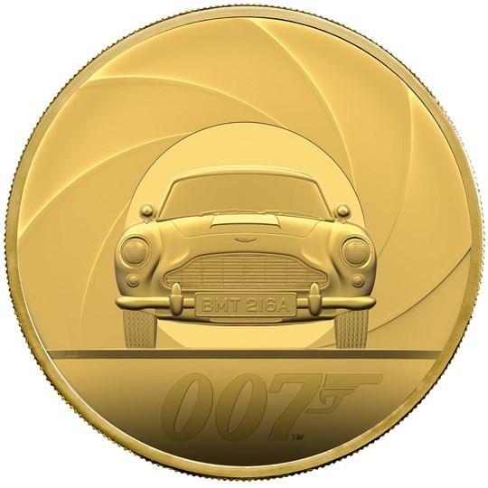 500 Pounds James Bond 007 Aston Martin Db5 Grossbritannien Uk 5 Oz Gold Pp 2020 Münzdachs