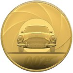 500 Pounds James Bond - 007 - Aston Martin DB5 Grossbritannien UK 5 oz Gold PP 2020