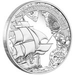 1 $ Dollar 250th Anniversary Endeavour - 1770-2020 - James Cook Australien 1 oz Silber PP 2020 **