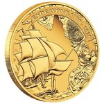 25 $ Dollar 250th Anniversary Endeavour - 1770-2020 - James Cook Australien 1/4 oz Gold PP 2020