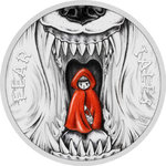 10 $ Dollar Fear Tales - Red Riding Hood - Rotkäppchen Palau 2 oz Silber 2019