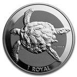 1 Royal Sea Turtle - Meeresschildkröte British Indian Ocean Territory 1 oz Silber 2020 BU **
