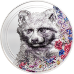 500 Togrog Woodland Spirits - Raccoon Dog - Marderhund - High Relief Mongolei 1 oz Silber PP 2019 **