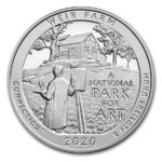 America the Beautiful ATB Weir Farm National Historic Site - Connecticut USA 5 oz Silber 2020 **