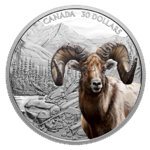 30 $ Dollar Imposing Icons Series: Bighorn Sheep - Dickhornschaf Kanada 2 oz Silber PP 2020 **