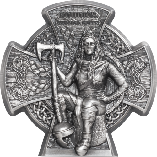 5 Pounds Pfund Boudica – Warrior Queen 3D Isle of Man 3 oz Silber 2020 **