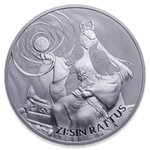 1 Clay The Twelve Guardians - ZI:SIN Rattus South Korea Südkorea 1 oz Silber 2020