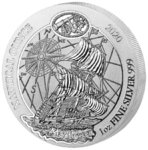 50 Francs Nautical Ounce Mayflower Ruanda Rwanda 1 oz Silber BU 2020
