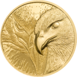 1000 Togrog Majestic Eagle - Adler High Relief Mongolei 1/10 oz Gold 2020