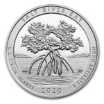 America the Beautiful ATB Salt River Bay - U.S. Virgin Islands USA 5 oz Silber 2020 **