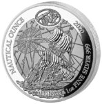 50 Francs Nautical Ounce Mayflower Ruanda Rwanda 1 oz Silber PP 2020