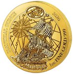 100 Francs Nautical Ounce - Mayflower Ruanda Rwanda 1 oz Gold BU 2020