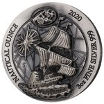 1000 Francs Nautical Ounce Mayflower High Relief # 60/6 Ruanda Rwanda 3 oz Silber AF 2020