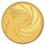 100 $ Dollar James Bond 007 Tuvalu 1 oz Gold 2020