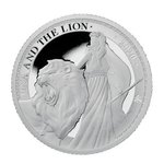 1 Pound Pfund Una and the Lion Proof St. Helena 1 oz Silber PP 2020 **