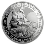 1 $ Dollar Black Flag - Piratenschiff Serie - The Royal Fortune Tuvalu 1 oz Silber BU 2020 **